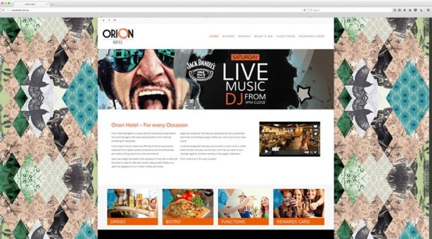 Web Design - Orion Hotel Springfield