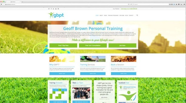 Web Design - Geoff Brown Personal Training