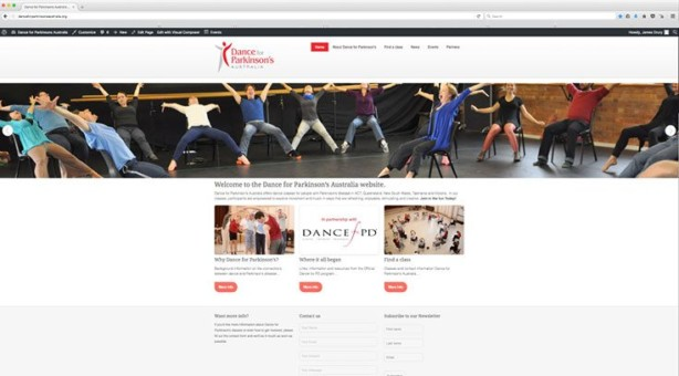 Web Design - Dance For Parkinson's Australia