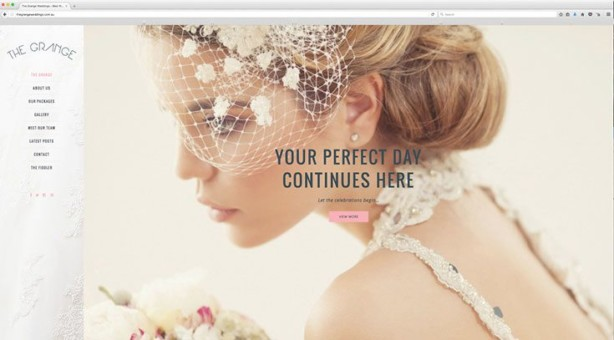 Web Design - The Grange Wedding Reception Venue