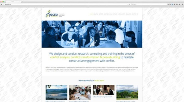 Web Design - Peace and Conflict Studies Institute of Australia